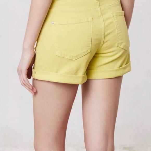 Anthropologie Pants - Anthropologie Pilcro Jean Shorts Neon Yellow 29 8